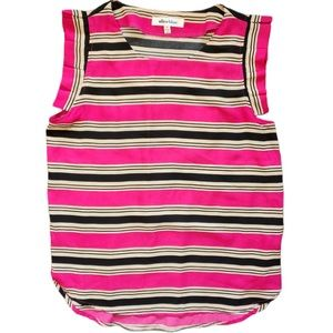 Alice Blue Pink Striped Sleeveless Top Sz Medium
